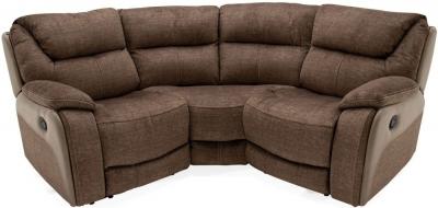 Vida Living Santiago Brown Fabric Corner Sofa