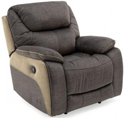 Vida Living Santiago Grey Fabric Recliner Armchair
