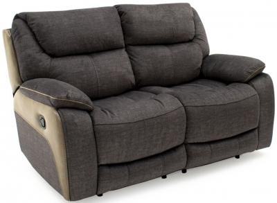 Vida Living Santiago Grey Fabric 2 Seater Recliner Sofa