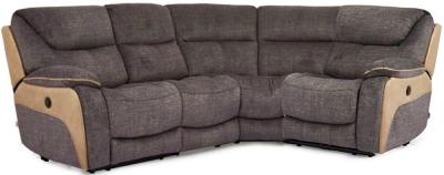 Vida Living Santiago Grey Fabric Corner Group Sofa