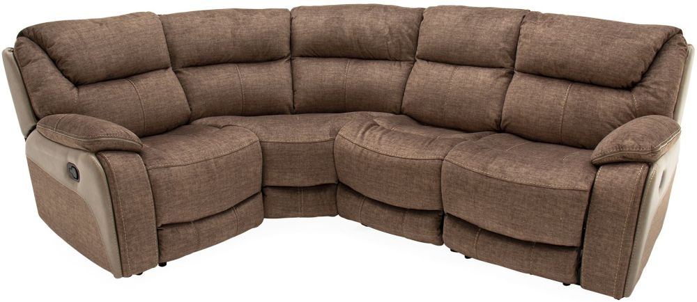 Vida Living Santiago Armless Corner Group Sofa - Brown Fabric
