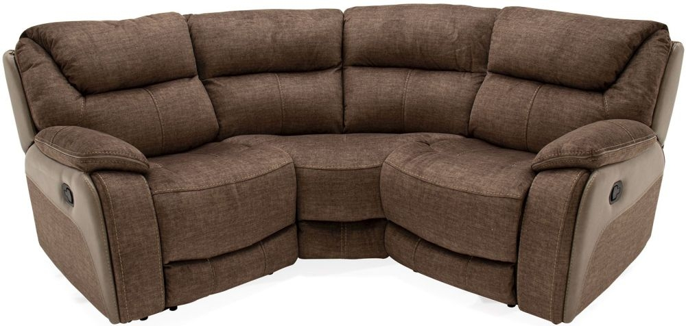 Vida Living Santiago Corner Group Sofa - Brown Fabric
