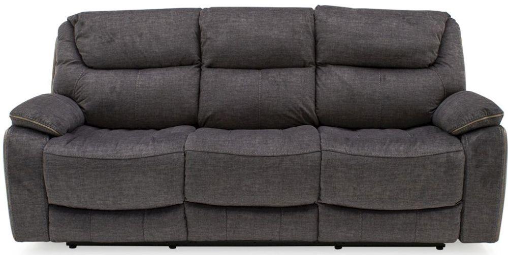 Vida Living Santiago Grey Fabric 3 Seater Recliner Sofa
