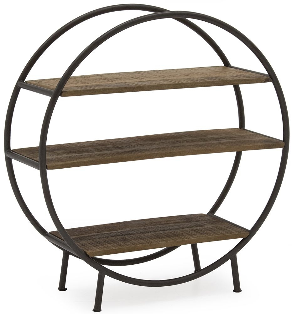 Vida Living Savannah Natural Round Bookcase