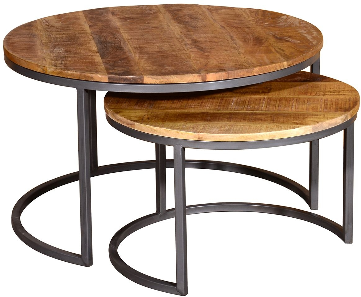Vida Living Savannah Round Coffee Table (Set of 2)