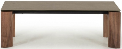 Vida Living Serafina Walnut Ceramic Coffee Table