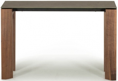 Vida Living Serafina Walnut Ceramic Console Table