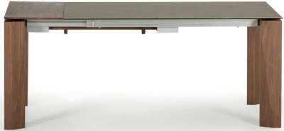 Vida Living Serafina Walnut Ceramic Extending Dining Table