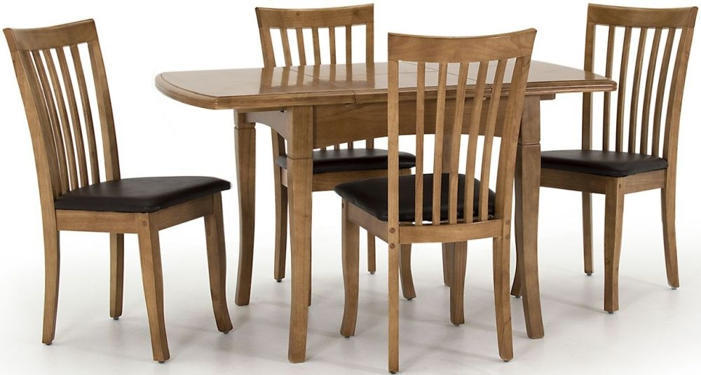 Vida Living Seville Maple Dining Set - Small Extending with 4 Chairs