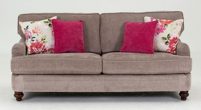 Vida Living Sherlock 3 Seater Fabric Sofa - Mink
