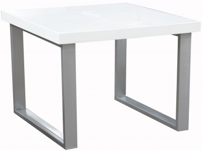 Vida Living Sierra White High Gloss End Table