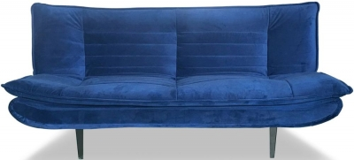 Vida Living Ethan Blue Velvet Sofa Bed