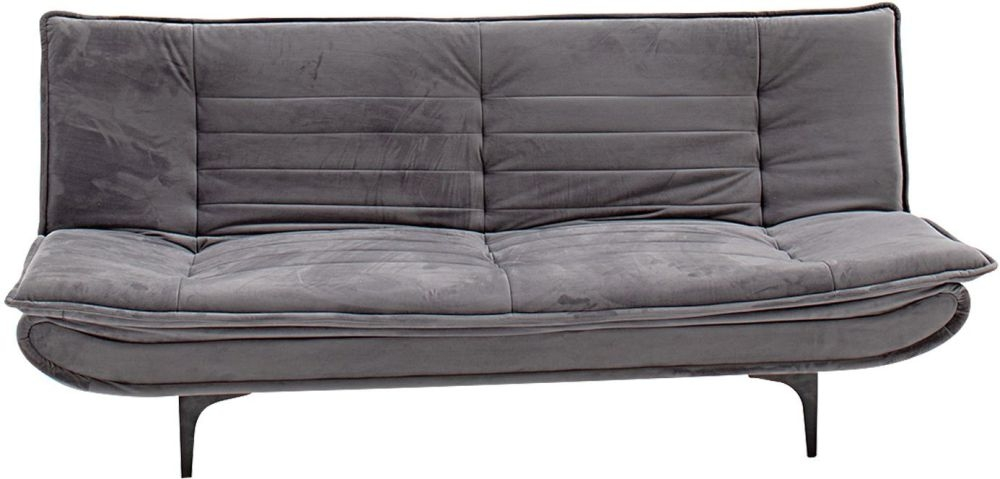 Vida Living Ethan Grey Velvet Sofa Bed