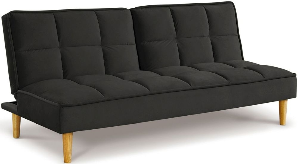 Vida Living Lokken Dark Grey Velvet Sofa Bed
