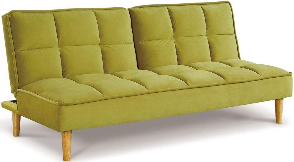 Vida Living Lokken Green Velvet Sofa Bed