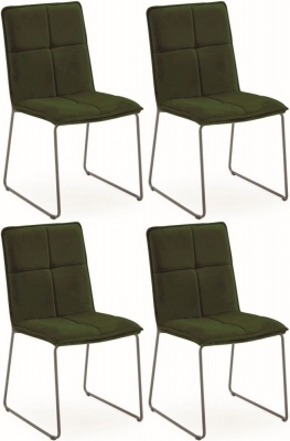 Vida Living Soren Green Velvet Dining Chair (Set of 4)