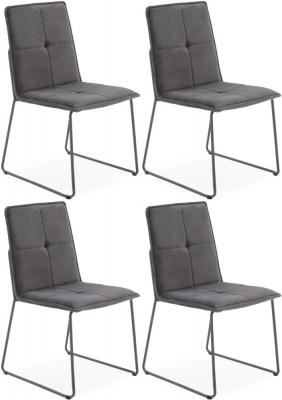 Vida Living Soren Grey Velvet Dining Chair (Set of 4)