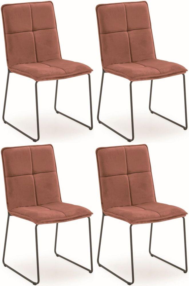 Vida Living Soren Dining Chair (Set of 4) - Blush Velvet