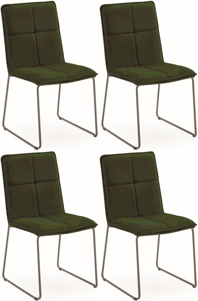 Vida Living Soren Dining Chair (Set of 4) - Green Velvet
