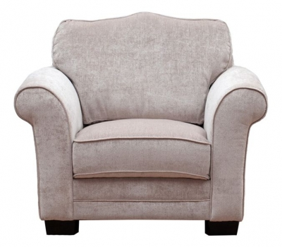 Vida Living Stafford Fabric Fixed Armchair - Taupe
