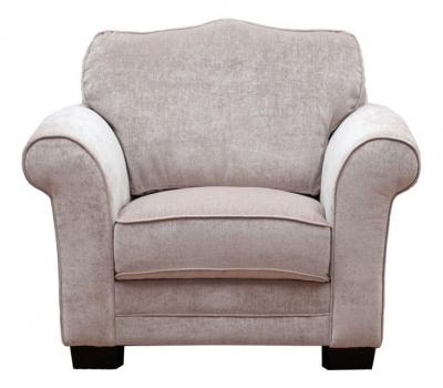 Vida Living Stafford Fabric Fixed Armchair - Taupe