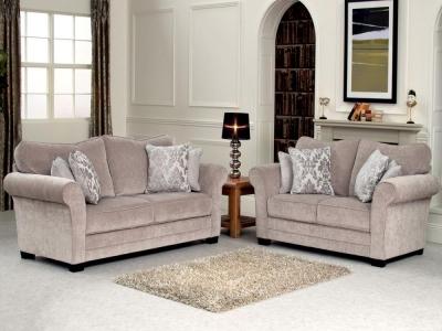 Vida Living Stafford Fabric Fixed Sofa - Taupe