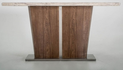Vida Living Stonewood Marble Console Table
