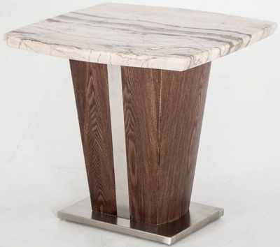 Vida Living Stonewood Marble Lamp Table