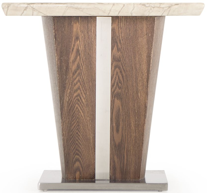 Vida Living Stonewood Natural Marble Lamp Table