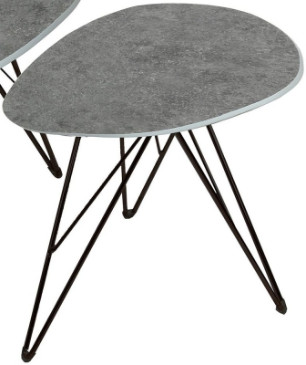Vida Living Otto Grey Concrete End Table