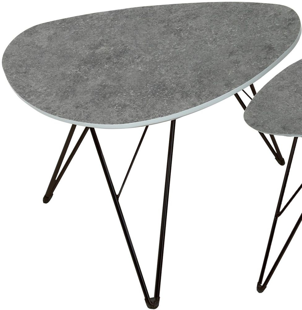 Vida Living Otto Dark Grey Concrete Coffee Table