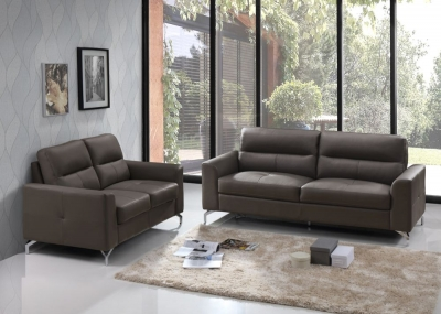 Vida Living Tanaro Grey Leathaire 3+2 Seater Sofa