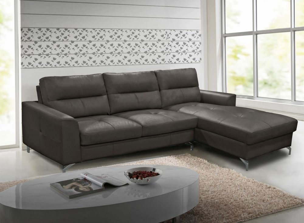 Vida Living Tanaro Grey Leathaire Right Hand Facing Corner Sofa Group