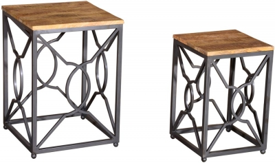 Vida Living Tangier Nest of Tables - Natural and Rustic