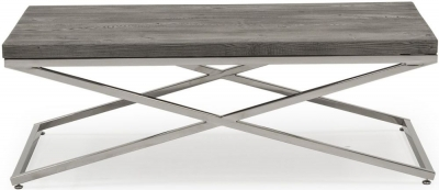 Vida Living Tephra Stainless Steel Chrome Base Coffee Table