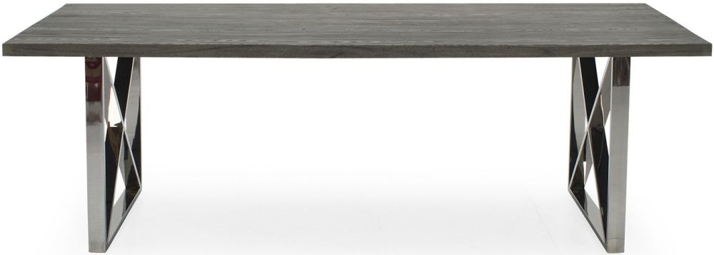 Vida Living Tephra Grey Dining Table - 230cm Rectangular Fixed Top