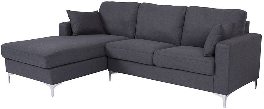 Vida Living Tora Charcoal Fabric Corner Sofa Group (LHF)