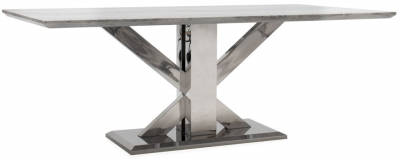 Vida Living Tremmen 200cm Grey Marble Dining Table