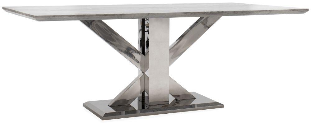 Vida Living Tremmen 160cm Grey Marble Dining Table