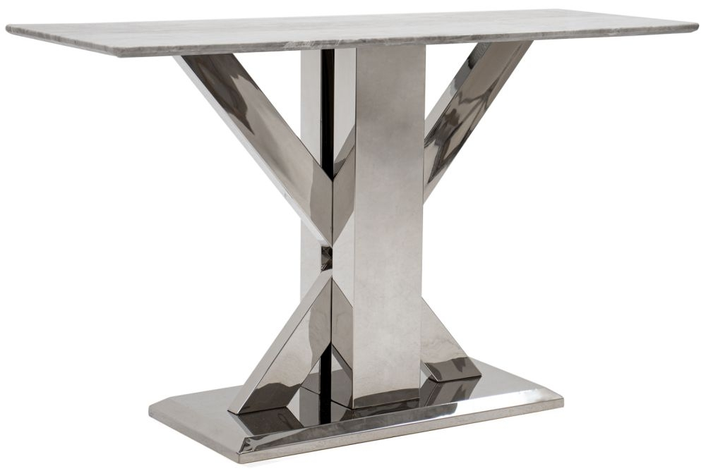 Vida Living Tremmen Grey Marble Console Table