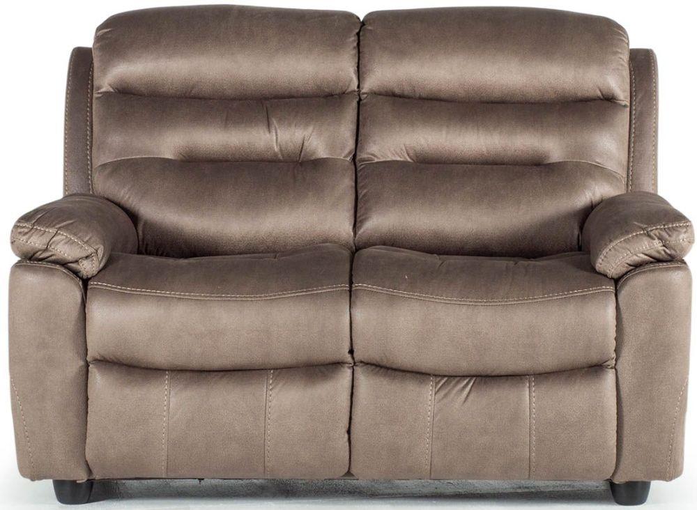 Vida Living Trent Brown 2 Seater Fixed Sofa