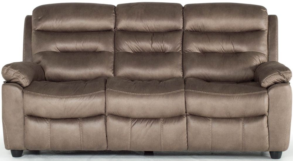 Vida Living Trent Brown 3 Seater Fixed Sofa