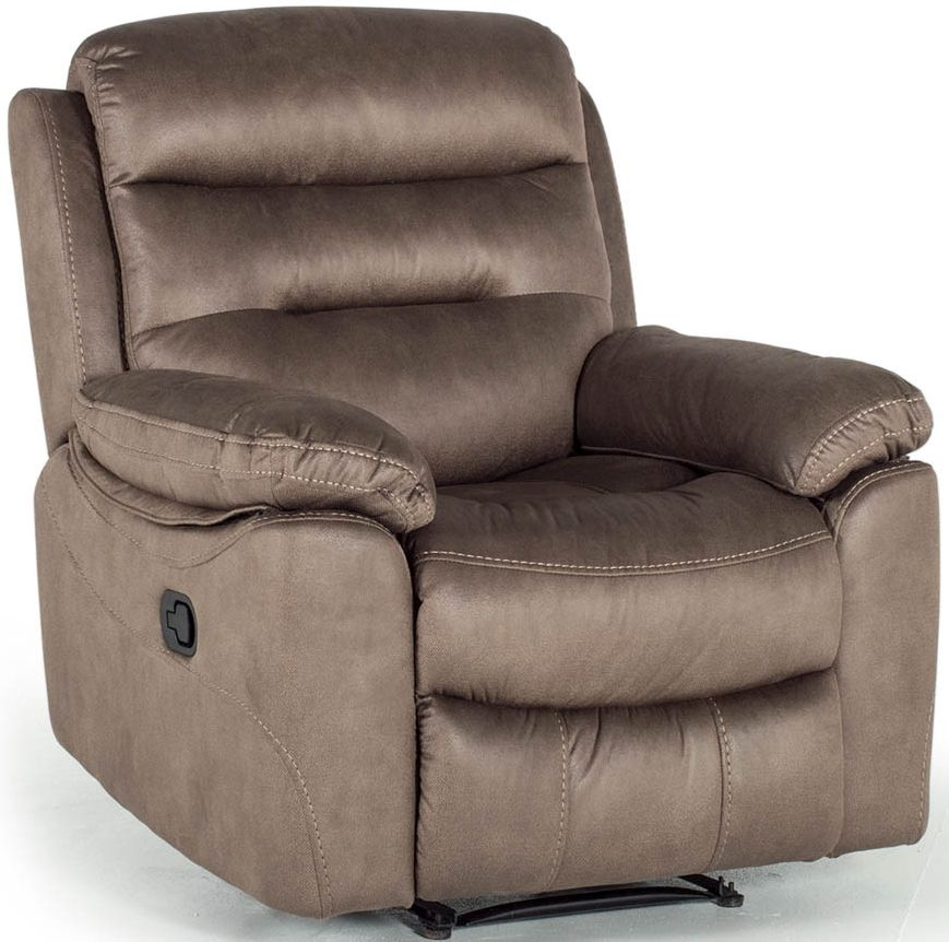 Vida Living Trent Brown Fabric 1 Seater Recliner Armchair