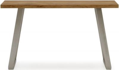 Vida Living Trier Console Table - Oak and Chrome