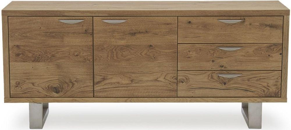 Vida Living Trier Oak 2 Door 3 Drawer Wide Sideboard