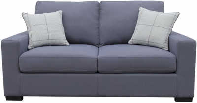 Vida Living Turin Slate Blue Fabric Sofa Bed with 2 Scatter Cushions
