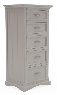 Vida Living Turner Grey Painted 5 Drawer Tall Chest