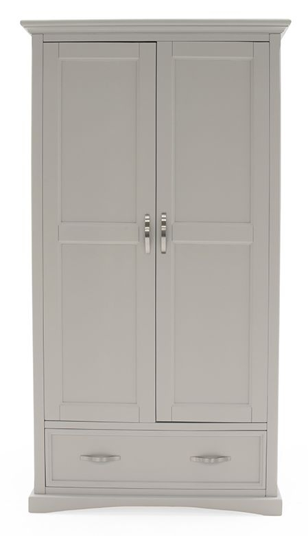 Vida Living Turner Grey Painted 2 Door Wardrobe