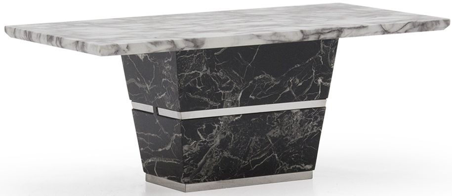 Vida Living Valdina White and Black Marble Coffee Table