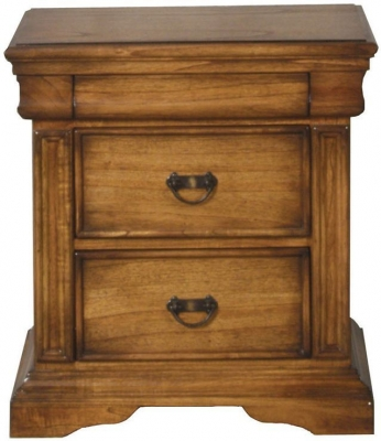 Vida Living Valentino Oak Bedside Cabinet - 2 Drawer